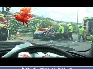 Nie pisz smsow podczas kierowania! Uwaga, drastyczne!